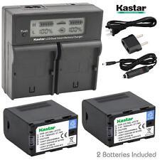 Kastar JVC70 Battery&Charger for JVC70 GY-HMQ10 LS300 HM200 HM600 HM600EC HM650