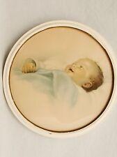 """Vintage Baby Chuckles Bessie Pease Gutmann Glass Round Print 12"""""""