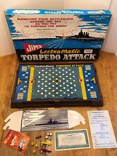 Rare Vintage Jim's Lectramatic Torpedo Attack Game Electric 60's Submarine War