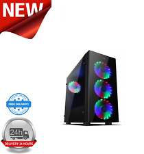 Sahara P15 Black Midi Tower Gaming Case with Tempered Glass Window ATX/MicroATX