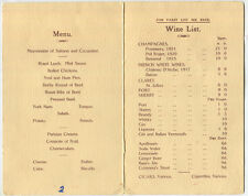 King Edward VIII signature on Nottingham Agricultural Society Show menu . . .