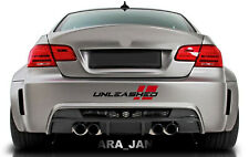 UNLEASHED Decal Sticker Racing stripe Sport Turbo car bumper logo auto emblem