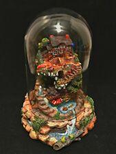 Franklin Mint Geranium Garden Cottage Figurine Under Glass Dome Limited Edition