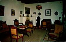 Postcard Interior View Living Room Kit Carson Home Taos NM New Mexico      A-164
