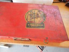 Vintage Gilbert Erector Set Metal Box Only 1938 Copyright No.7 1/2& Ideal fix it