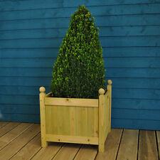 Wooden Garden Square Planter (43cm) by Gardman