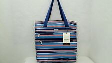 Baggallini For Life's Journey Large Blue Red White Tote Bagg Travel Beach Pool