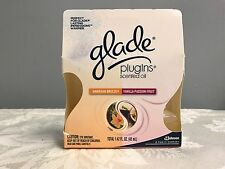 2 Pack Glade Plugins Scented Oil Refills Vanilla Passion Fruit & Hawaiian Breeze