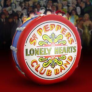 The Beatles Sgt Pepper LED Drum - iconic, retro, lighting, bass drum, music, 196