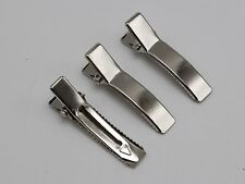 50 Silver Curved Pinch Alligator Hair Clips 35mm with Teeth Bows