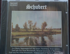 Masters of Music Schubert Selections CD Mint Order 10 Tracks New 63 mins 1988