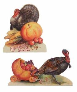 Bethany Lowe - Autumn - Thanksgiving Turkey Dummy Board Set - RL6846