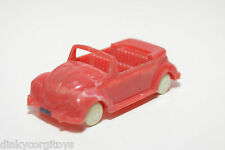 PLASTIC GERMANY VW VOLKSWAGEN BEETLE KAFER CABRIOLET RED NEAR MINT CONDITION