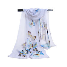 Women's New Butterfly Printed Scarf Chiffon Shawls Ladies Soft Scarves Wraps