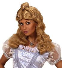 Ladies Long Blonde Wig Goldilocks Rapunzel Cinderella Alice Fairy Tale Fancy Dre