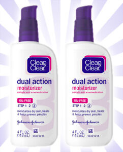 2 Clean & Clear Essentials Dual Action Facial Moisturizer 4 OZ