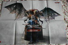 WITCHER 3 - WIEDŹMIN  HUGE POSTER BLOOD AND WINE  / DARK SOULS 3 / 82cmx59cm