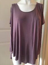Silence And Noise Sz M Light Brown Long Boho Tee Blouse