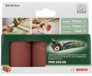 3 Pz. Bosch Maniche Levigatura Sh 60 Set 80 120 240 Grana PRR 250 Es Mole