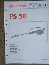 1991 Husqvarna PS 50 Power Chain Saw Spare Parts List LOTS MORE IN OUR STORE  V