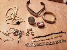 Mixed Victorian Era VINTAGE costume Jewerly Boxes Bracelets Brooch GF