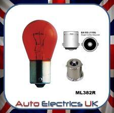 10x RED 12V 21W Bulb Stop Side Flasher Stop Tail Brake Car Fog Single 382 BA15S