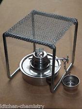 Small Methylated Spirit  Alcohol Burner with Mini Tripod  Lamp Lab (meths) NEW
