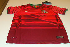 Team Portugal 2014 World Cup Soccer Home Jersey Ss Xs Youth Red Stadium