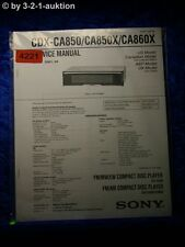 Sony Service Manual CDX CA850X /CA860X /CA850 CD Player (#4221)