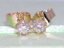 Diamant Brillant Ohrstecker 585 Gelbgold 14Kt 0,23ct Brillant Solitär Wesselton