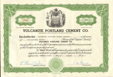 Vulcanite Portland Cement Co. > New Jersey stock certificate share scripophily