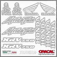 12pcs KIT Adesivi Bianco compatibile con HONDA XRV 750 Africa Twin XRV750 Dakar