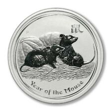 Australia Year of the Mouse $1 2008 Silver Crown BU