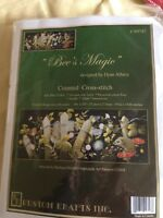 RARE Bee's Magic counted cross stitch kit, Dyan Allaire sealed Kustom Krafts BIG