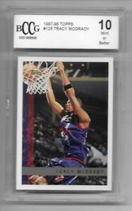 1997 98 Topps 125 rc TRACY MCGRADY tmac Rookie MINT card bgs BCCG 10