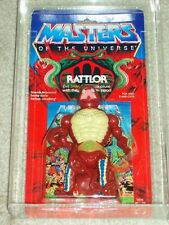 Vintage 1986 HE-MAN MOTU CAS/AFA 75/80/85 RATTLOR Mattel SERIES 5 Carded MOC!