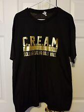 Wu Tang Clan C.R.E.A.M Dollar Dollar Bills Yall Graphic Design T Shirt Size XL