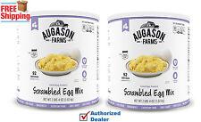 Augason Farms 184 Serv. Dried SCRAMBLED EGG MIX - 2 x #10 CAN POWDERED EGGS