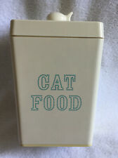 Martha Stewart Pets Dry Cat Food Container Melamine Plastic Fish Knob 12 Cups