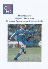 Micky Hazard Chelsea 1985-1990 revista original firmada a mano de corte