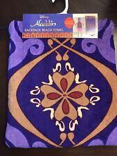 "⭐️Disney Aladdin Backpack 100% Cotton 28""x58"" Beach Towel * NEW w/ Tags *"