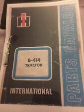 International Harvester B414 Parts Manual (Catalog)
