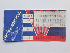 BRUCE SPRINGSTEEN Born in the USA Tour Concert Ticket Stub 7/21/1984 Montreal