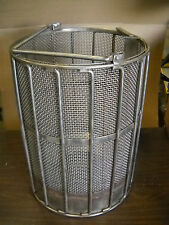 New Holland Spindryer Heavy Duty Baskets 18X18 #4 Mesh Stainles Steel Drop Botm