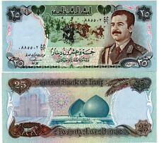 IRAQ Irak Billet 25 Dinar 1986 P73 SADDAM HUSSEIN UNIFROME SUISSE PRINT NEUF UNC