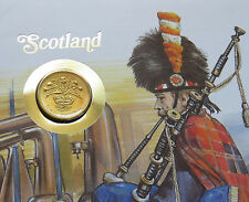 SCOTLAND £1 Pound 1989 Coin Stamp Cover 24p FDC EDINBURGH Scottish ENGLAND SET 3