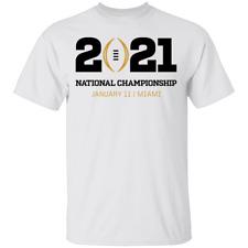 Men's 2021 College Football Playoff National Championship logo Tee Shirt Shor.