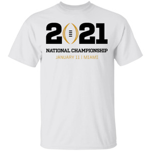 Men's 2021 College Football Playoff National Championship logo Tee Shirt Shor...