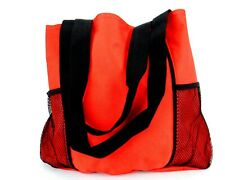 Red Leisure Tote, General Purpose Bag, Shopping, Travel, Beach, Sports, #SD4053