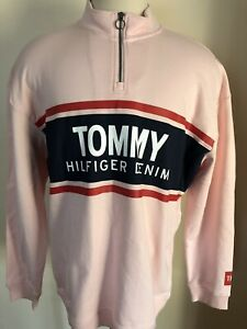 TOMMY HILFIGER New MEN'S Half Zip SWEATER SIZE XL/TG